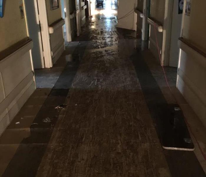 Major Commercial Flooding Damage in Palatine Before